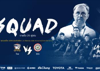 OFFICIAL: สุภโชค ก็มา! ประกาศรายชื่อทีมชาติไทย 25 คน ชุดคัดบอลโลกกับ อิรัก, ออสเตรเลีย